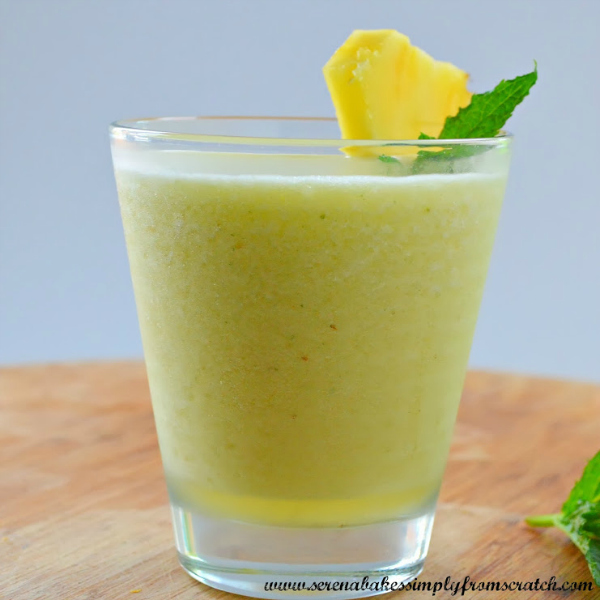 Mango pineapple mint daiquiri