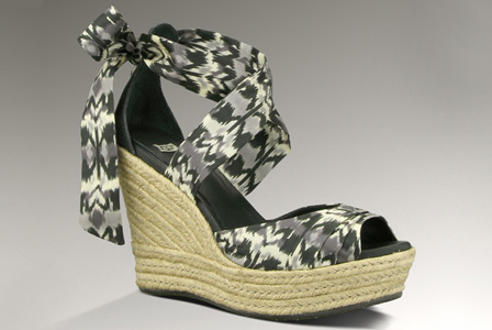 silk-tie wedges from UGG