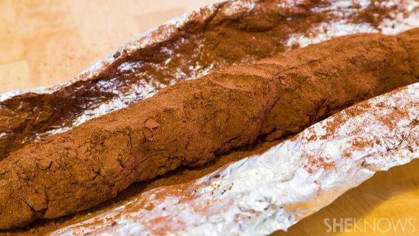 Chocolate salami for dessert