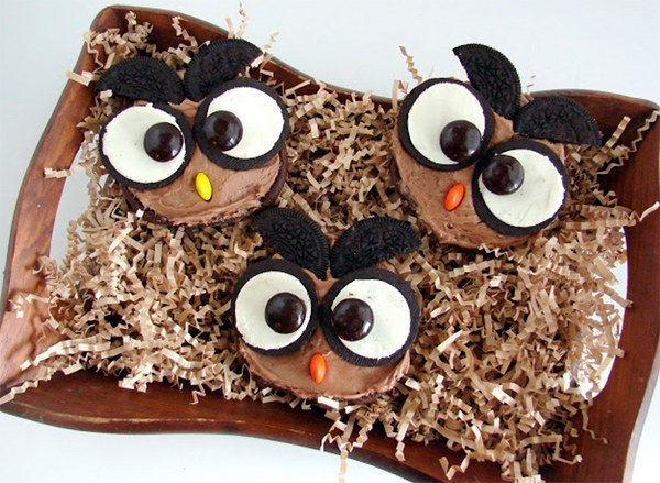 Owl Chocolate Cupcakes