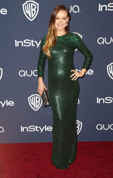 Olivia Wilde during the 2014 Golden Globes