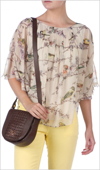 Our pick:Ted Baker Birdie Print Top, $165, Ted Baker.com