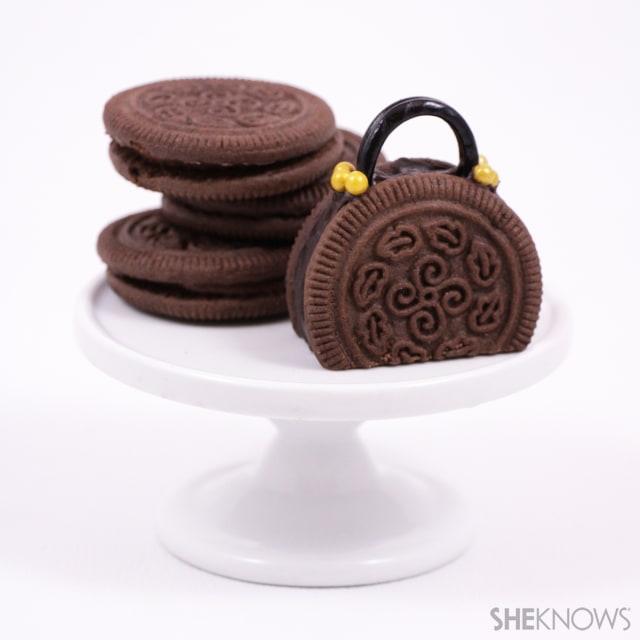 Bite-size bowler bag cookies