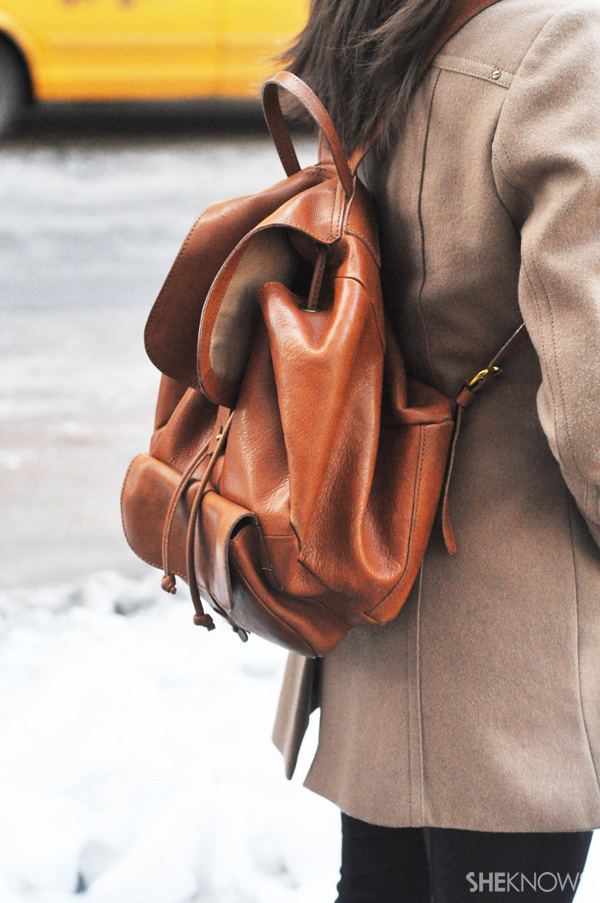 Fashionistas of all ages can't go wrong with a leather backpack.
