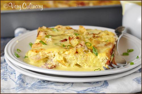 Make-Ahead eggs Benedict casserole
