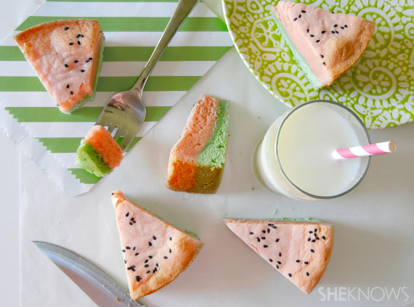 Watermelon blondie bars