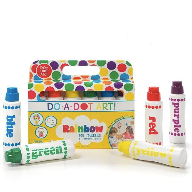 Do A Dot Art! Markers 6-Pack Rainbow Washable Paint Markers