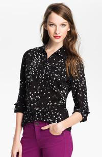Bird print blouse