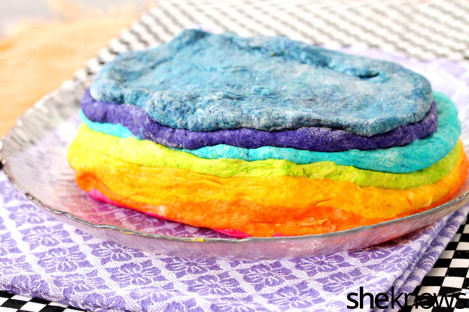 rainbow colored dough