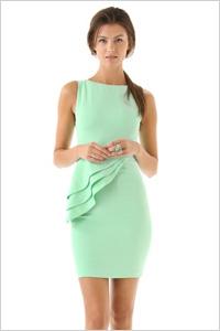Alice + Olivia Spelling Side Peplum Dress
