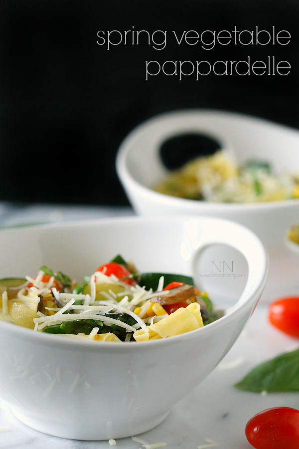 Spring vegetable pappardelle