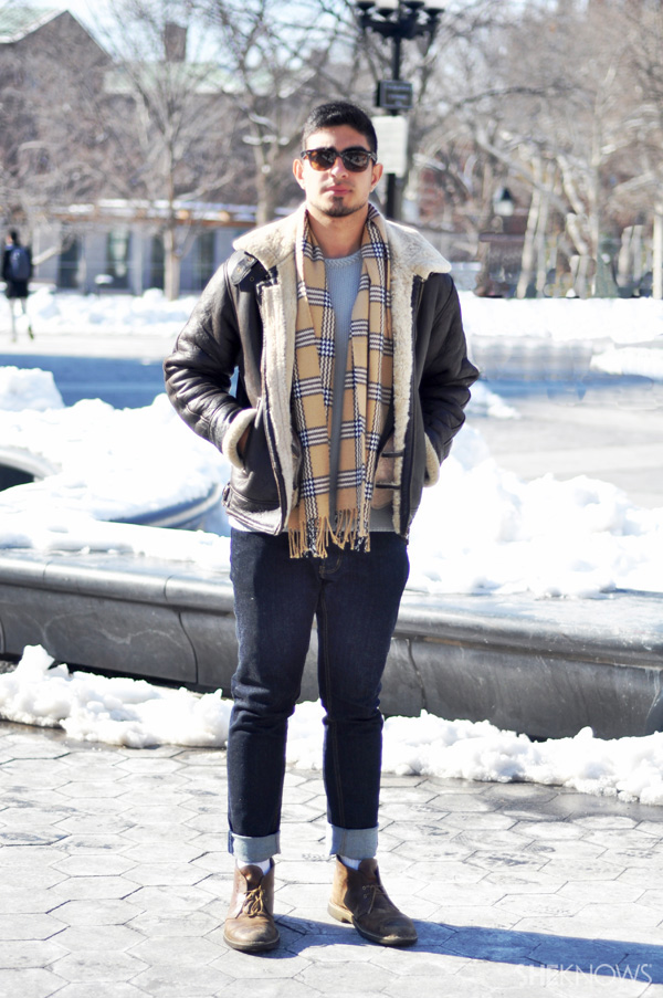 Look casual and cool with an unstructured leather jacket.