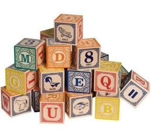 Classic alphabet blocks