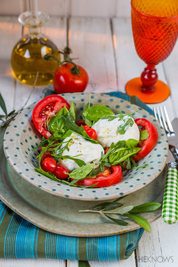 Italian salad with burrata recipe