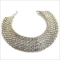 Crystal-studded necklace