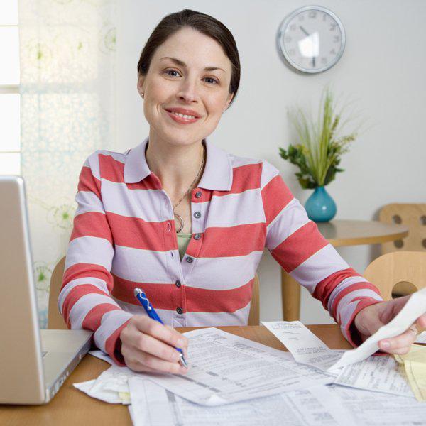 woman doing paperwork
