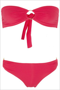 Swimsuit: Melissa Obadash Evita bandeau bikini