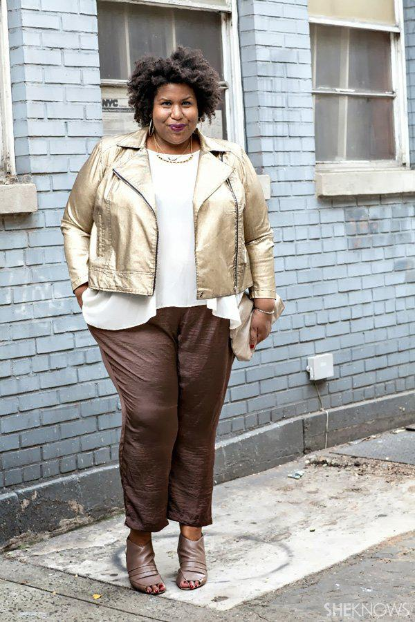 Glitzy holiday outfits for the plus-size woman -- Casual
