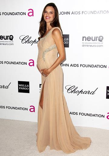 Alessandra Ambrosio at the 2012 Elton John AIDS Foundation