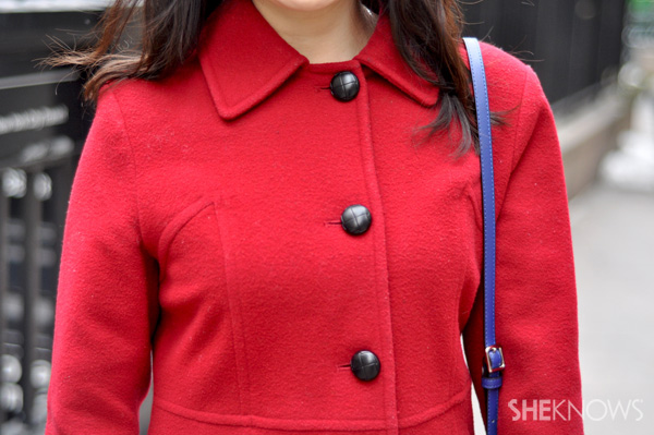 Nothing pops quite like a beautiful red coat.