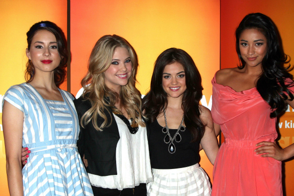 Troian Bellisario, Ashley Benson, Lucy Hale, and Shay Mitchell of Pretty Little Liars