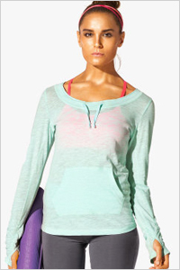 simple scoop neck tops with a front pocket