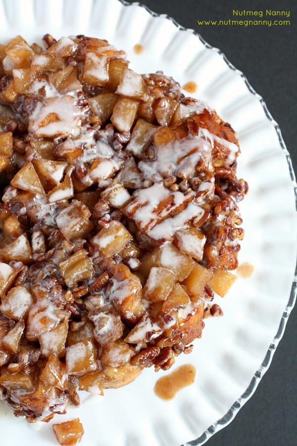 Nutty cinnamon roll cake