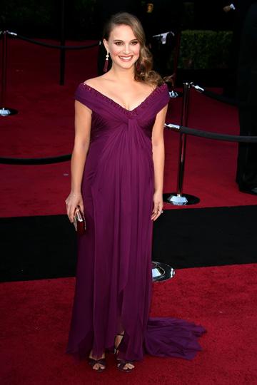 Natalie Portman during the 2011 Oscars