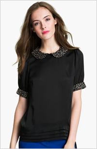 Vince Camuto jeweled collar blouse, $150