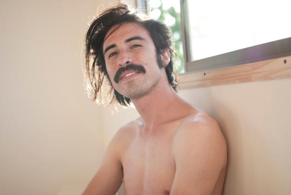 Mustache, no beard