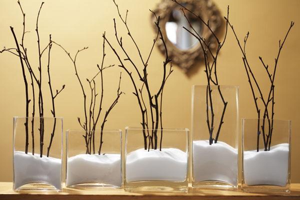 Winter-themed vases