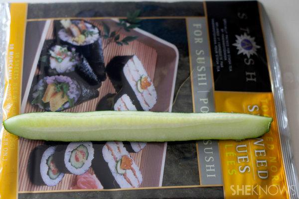 Tuna sushi hand roll
