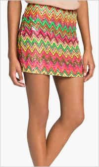 Our pick: Haute Hippie Chevron Mini Skirt, $495, Nordstrom.com
