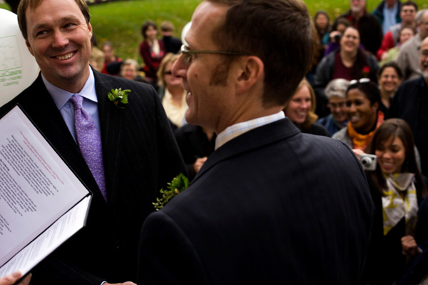Gay couple getting married in Connecticut