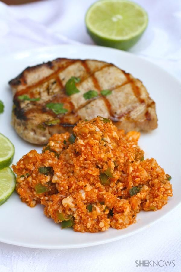 Pork Cauliflower rice