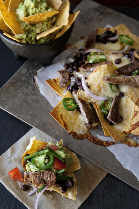 Carne asada nachos