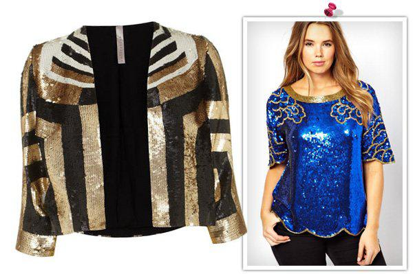 Glitzy holiday outfits for the plus-size woman -- Sequins