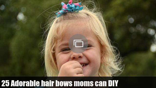 girl with hair bow