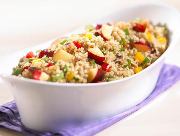 California plum and quinoa salad