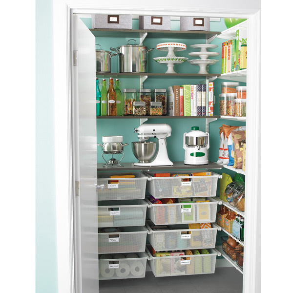 Organized pantry from the Container Store