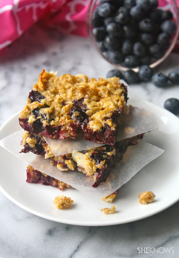 Gluten-free blueberry-coconut bars