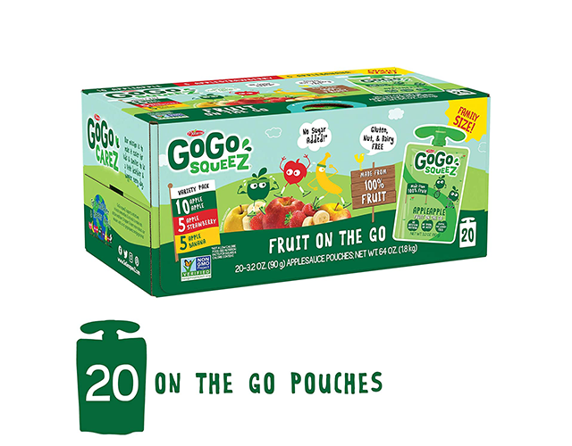 Gogo Squeeze Best Lunch Snacks for Kids on Amazon