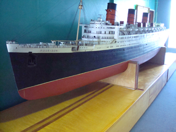The original Poseidon model ship, the Queen Mary was used for filming