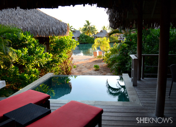 View from a garden bungalow at the Intercontinental.