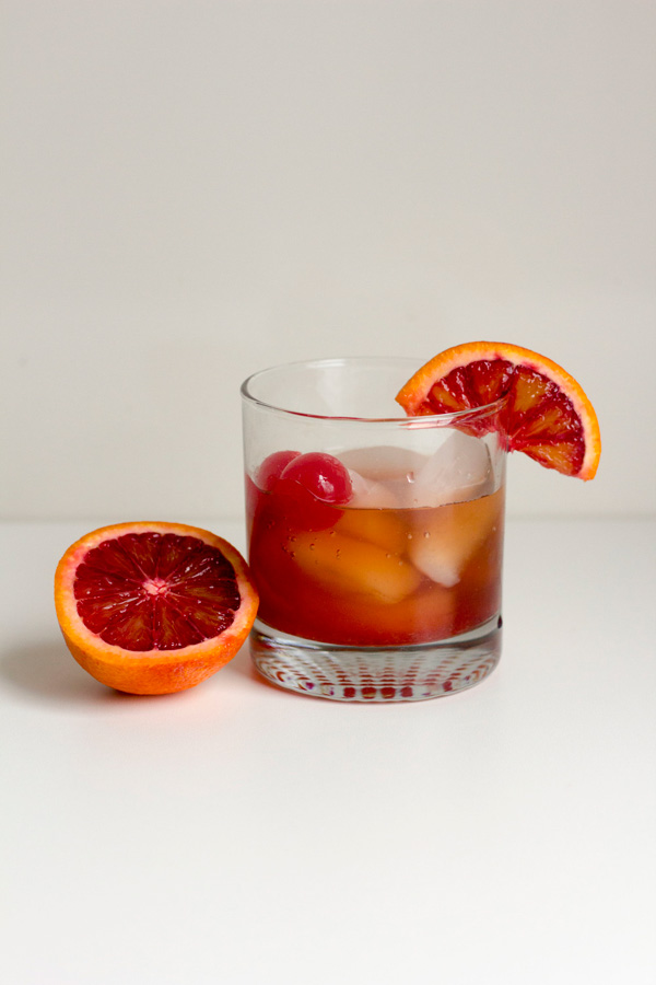 Bloody orange old fashioned