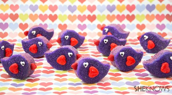3D Lovebird cookies