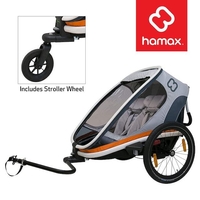 Hamax best baby bike trailer on Amazon