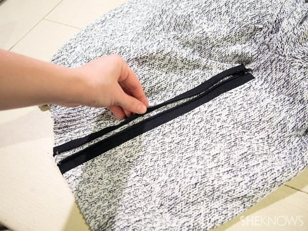 DIY zip sweater | SheKnows.com