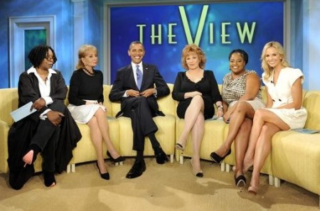 Barack Obama visits The View