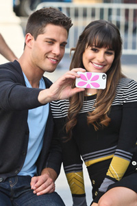 Dean Geyer with Lea Michele